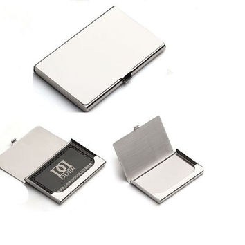 new (10 % off) Metal business card holder