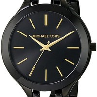 Jacob Time MK3317 Michael Kors Slim Runway Ladies Watch - Black Dial