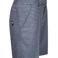 Striped ProCool Golf Shorts (Grey/White)