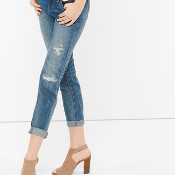 White House | Black Market Distressed Girlfriend Jeans