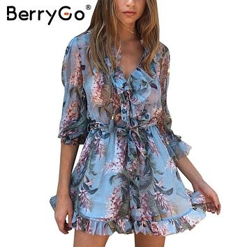 BerryGo Boho chiffon short party dresses vestidos de festa Vintage summer dress women Two piece set fringe ruffle sexy dress
