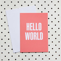 Hello World card
