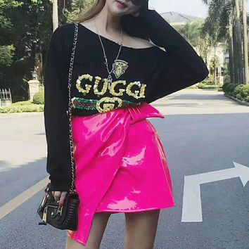 ''Gucci''  Women Long Sleeve Cute Sweater I-AGG-CZDL