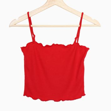 Lettuce Edge Cami - Red