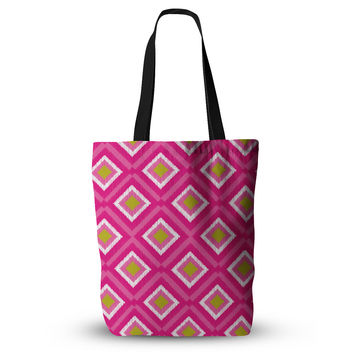 "Nicole Ketchum ""Moroccan Hot Pink Tile"" Everything Tote Bag"