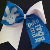 """3in. Glitter Cheer Bow """"Put a ring on it"""" 2013"""