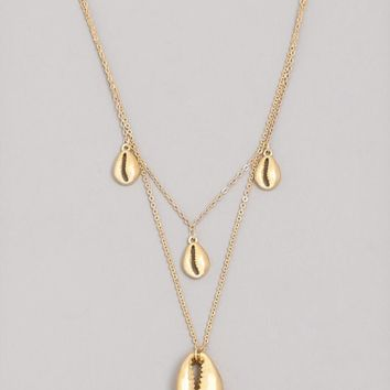 Layered Dainty Cowrie Shell Necklace