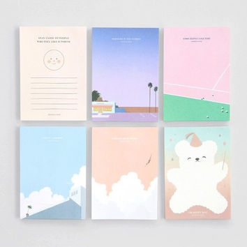 Lagom illustration memo notepad