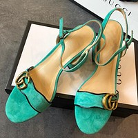 Gucci  Women Fashion Simple Casual High Heeled Shoes