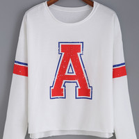 Letter Print Long Sleeve T-shirt