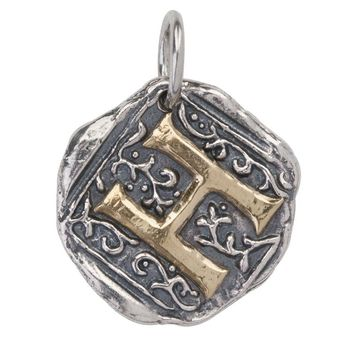 "Waxing Poetic Century Insignia Charm ""H"""