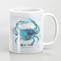 blue crab Mug by Sylvia Cook Photography
