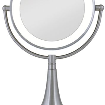 Zadro 1X & 10X Cordless / Corded LED Lighted Vanity MakeUp Mirror LEDSV410 NEW