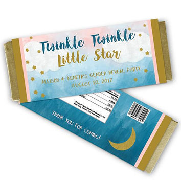 Twinkle Baby Shower Candy Wrappers - Gender Reveal Party Candy Wrapper - Gender Neutral Baby Shower Party Favors Twinkle Twinkle Little Star