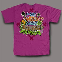 Sweet Thing Funny Wild About Teaching Neon Girlie Bright T-Shirt