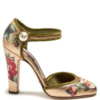 Floral-print metallic-leather pumps | Dolce & Gabbana | MATCHESFASHION.COM US