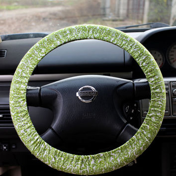 Steering wheel cover steer cover car decor by JuliaEShop on Etsy