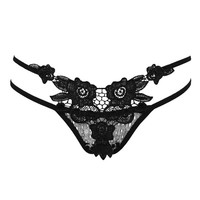 Women's Thong Sexy Hollow Out Thongs G-string Panties Knickers Cotton String Thong Lingerie Underwear  Calcinha Fio Dental#564