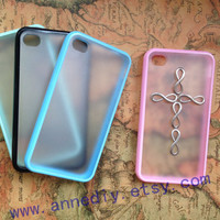 Silver infinity iphone 5 case, cross iphone 5 case,iphone 4s Case Cover, hard iphone 4 case, infinity wishes