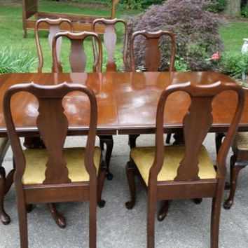 Ethan Allen Solid Cherry Dining Room Set
