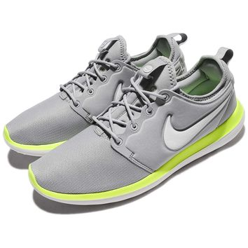 Nike Roshe Two 2 Wolf Grey Green Men Running Shoes Sneakers 844656-007