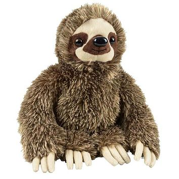 "11.5"" Three-Toed Sloth Stuffed Animal Zoo Plush"