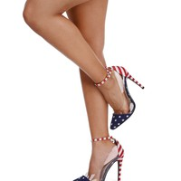 Sale- Red Patriotic Pumps
