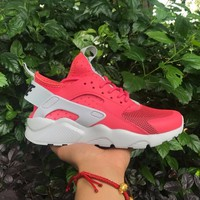 Best Online Sale Nike Air Huarache 4 Red Women Hurache Running Sport Casual Shoes Sneakers - 101