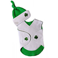 Unisex Baby Luck of the Irish NICU Snuggler Wrap Set