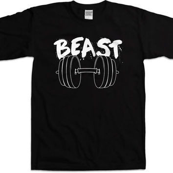 Funny Workout Shirt Beast Shirt Gym Clothing Fitness T Shirt Beast Gifts Workout Clothes Beast Clothing Weight Lifting Shirt Mens Tee WT-159
