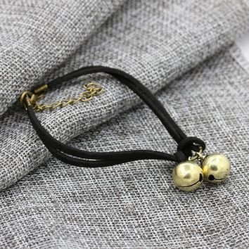 LMFON New Arrival Stylish Sexy Cute Shiny Jewelry Ladies Gift Korean Handcrafts Couple Bracelet Birthday Bells Hot Sale Anklet [10417791060]