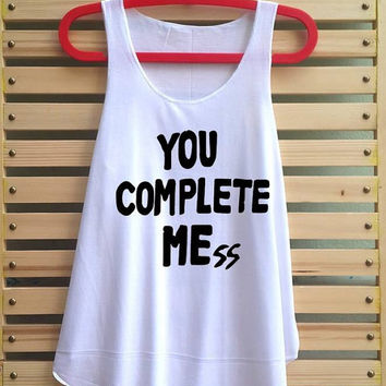 you complete mess me shirt luke hemmings shirt 5sos Tank top 5 sos tshirt 5 seconds of summer top - size S M