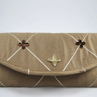 Clutch Purse Satin Bronze by PoePoePurses on Etsy $35.00