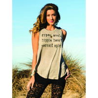 Surf Gypsy - Mermaid Spirit Braided Sleeve Beach Tank