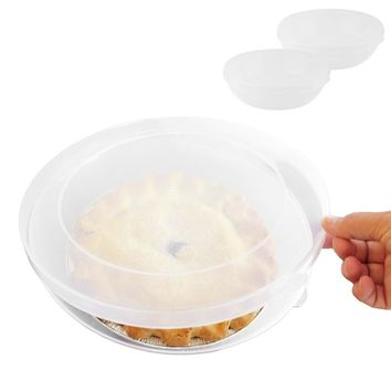 Evelots Universal Pie Keepers, Pie Containers, Clear, Set Of 2