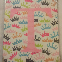 Framed Princess Crown Wall Decor with Your Initial