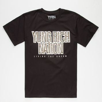 Yrn Flow Mens T-Shirt Black  In Sizes