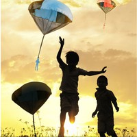 Kids Tangle Toy Hand Throwing Parachute Kite Outdoor Play Game Toy Beach Toys