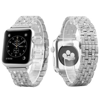 Men's Stainless Steel Custom 38mm Apple Watch Metal Band