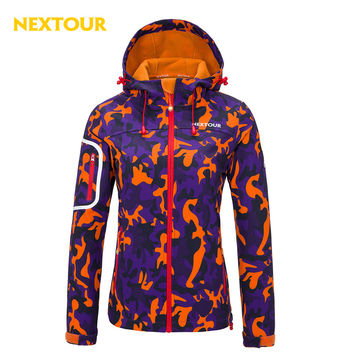 NEXTOUR Outdoor Jacket  Women Softshell Jacket Windproof Coats with fleece  Water -proof sportswear Hiking Hunting Camping
