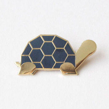 Black Tortoise Brooch By Sketch Inc