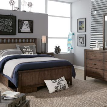 7860 Sawyer's Mill Upholstered Slat Bed