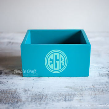 Recipe cards box 4x6 bridal shower recipe box wooden recipe card box blue memory recipe box wooden recipe organizer personalized recipe box