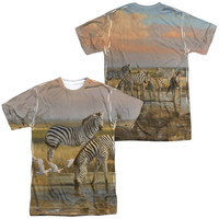 WILD WINGS/SUNDOWNERS (FRONT/BACK PRINT)-S/S ADULT POLY CREW-SUBLIMATE WHITE