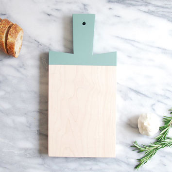 Eucalyptus Maple Paddle Cutting Board | Host Gift | Wooden Cutting Board | Painted Chopping Board | Hostess Gift