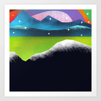 Starry Day Art Print by Amelia Senville