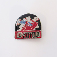 Vintage Led Zeppelin Enamel Pin / Pinback / Music Badge