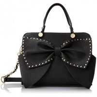 Betsey Johnson Bow Regard Satchel Bag