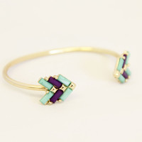 Mint and Purple Arrow Bangle