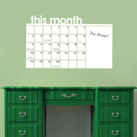 Dry Erase Wall Calendar, Planner, To Do List, and Memo Decal for Home, Living Room, Office, Bedroom or Dorm